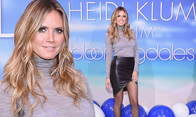 Heidi Klum Launches Heidi Klum Swim at Bloomingdale's 59th Street