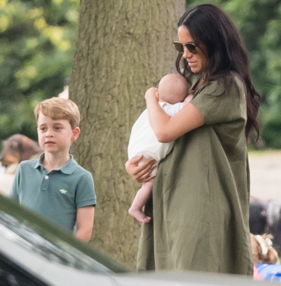 Meghan Markle Carries Baby Archie To Harry's POLO Match